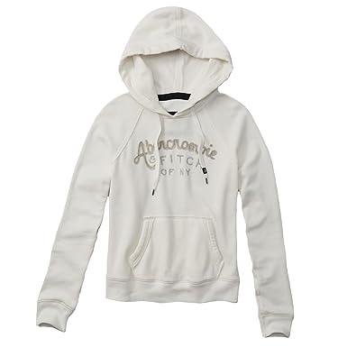 Abercrombie Logo Graphic sudadera con capucha forro polar sudadera con capucha de la mujer Blanco Off white 40: Amazon.es: Ropa y accesorios