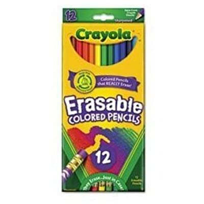 Crayola Bulk Buy Erasable Colored Pencils 12 Pack 68-4412 (3-Pack): Toys & Games