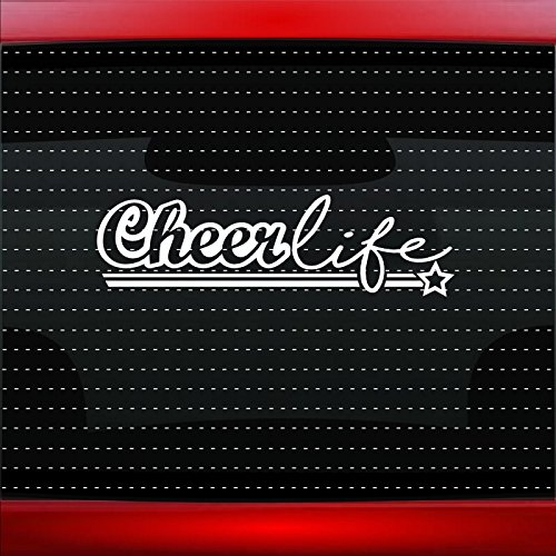 Cheer Chipboard - Cheer Life #1 Family Mom Cheerleading Car Sticker Truck Window Vinyl Decal COLOR: GOLD