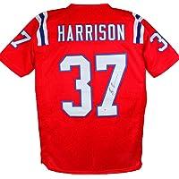 $125 » Rodney Harrison Autographed Red Pro Style Jersey- Beckett W Black
