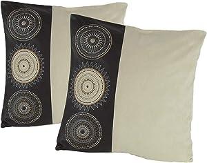 Wayborn Multi Color Medallions Decorative Pillow, Crème 17