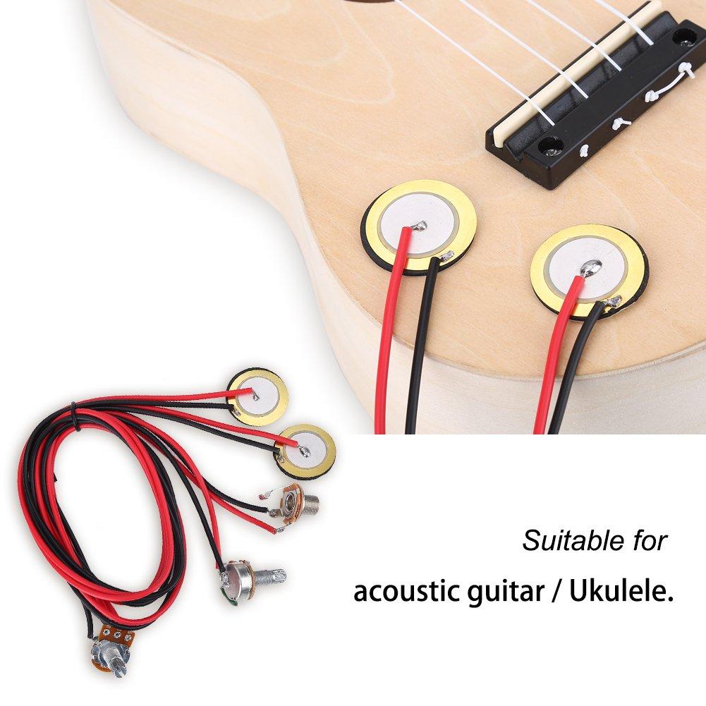 Dilwe Fonocaptores de Guitarra Acústica Transductor de Micrófono ...