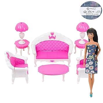 Amazon.com: E-TING Mini Dollhouse Furniture Living Room Set Table ...