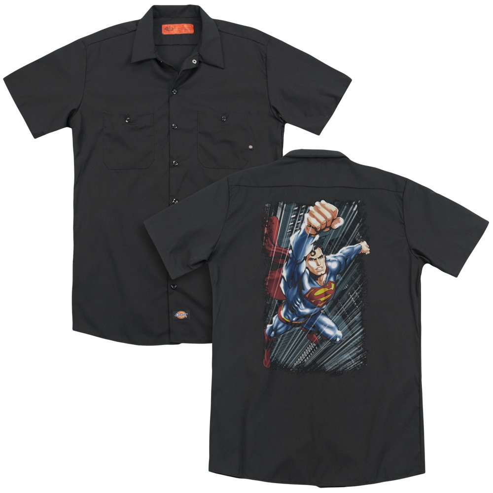 Superman Faster Than Adult Work Shirt