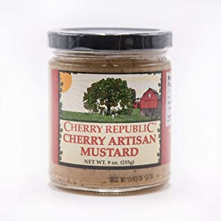 product image for Cherry Artisan Mustard - Michigan Tart Cherries - Mild and Sweet Condiment - 9 oz Jar