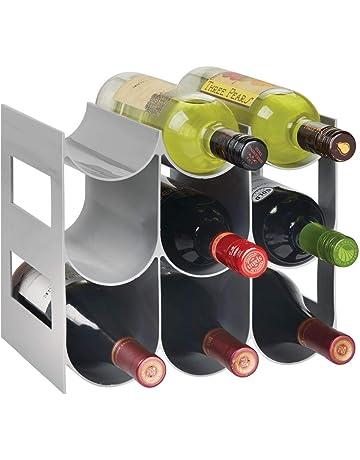 MetroDecor mDesign Práctico Estante para Botellas de Vino – Botelleros para Vino y Otras Bebidas para