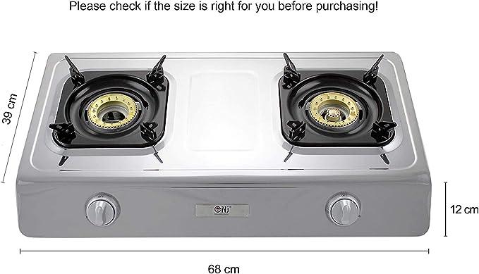 NJ NGB-200 Estufa de gas de 70 cm de acero inoxidable 70 quemadores Cocina de gas de camping Quemador WOK uso de GLP