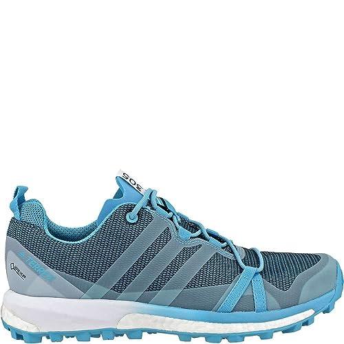 c65fc62a20544 adidas outdoor Women's Terrex Agravic GTX Vapour Blue/Clear Aqua/White  Athletic Shoe