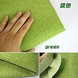 "Coated Linen Fabric Sofa Cushion Fabirc DIY Craft Sewing Cloth Outdoor Linen Blend Fabric Upholstery 58"" wide -Per yard (green)"