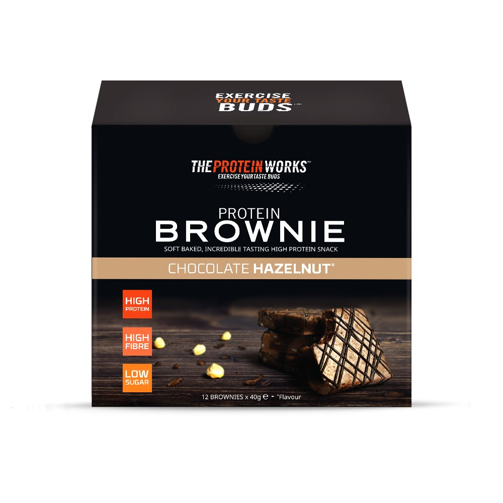 Brownies Proteicos | Sabor Chocolate con avellana | Caja de ...