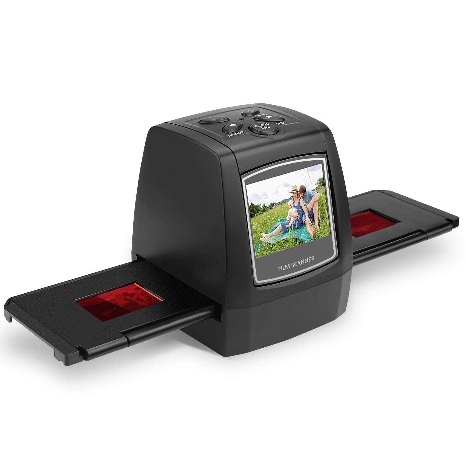 SubClap Film & Slide Scanner, Converts 35mm, 110, 126 Negative & Slides to Photo Image, Super 8 Films into Digital Photos, No Computer Required (Black)
