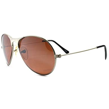 550c7b4ffc Amazon.com  Vintage Classic Aviation Air Force Style Brown Lens ...