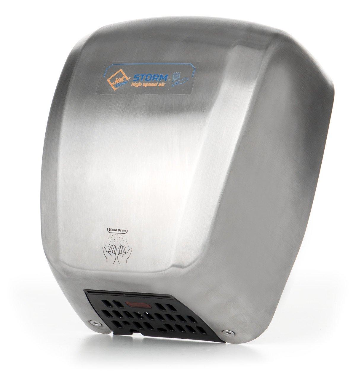 Asciugatore Jet Dryer Storm–Più Veloce e Potente handlicher asciugatore mani–Argento Acciaio Inossidabile WELT SERVIS spol s r.o. 8596220006394