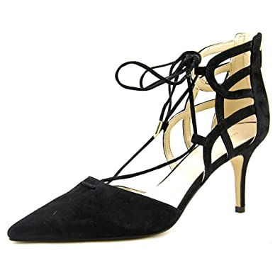 Marc Fisher Womens Truthe Leather Pointed Toe Classic Black Suede Size 8.5