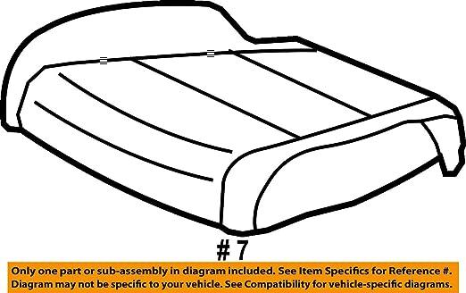 Right Front Honda Genuine 81131-SZA-A62ZC Seat Cushion Trim Cover