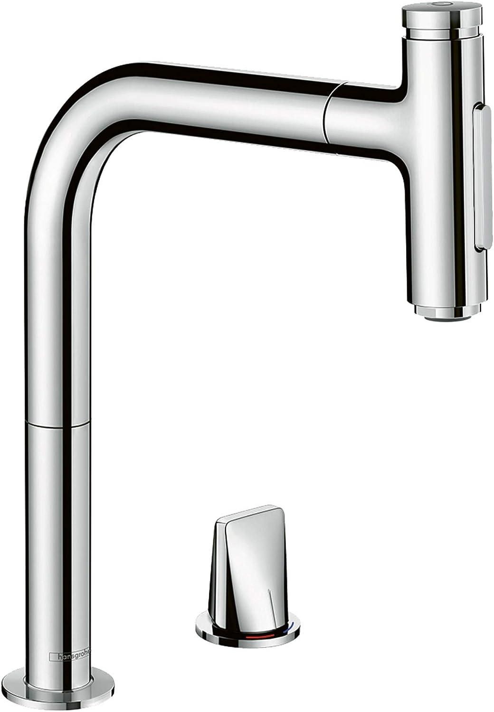 hansgrohe Küchenarmatur Select 16-Loch mit Schlauchbox (Wasserhahn Küche  16° oder 16°schwenkbar, hoher Komfort Auslauf 1600mm mit ausziehbarer  Brause,