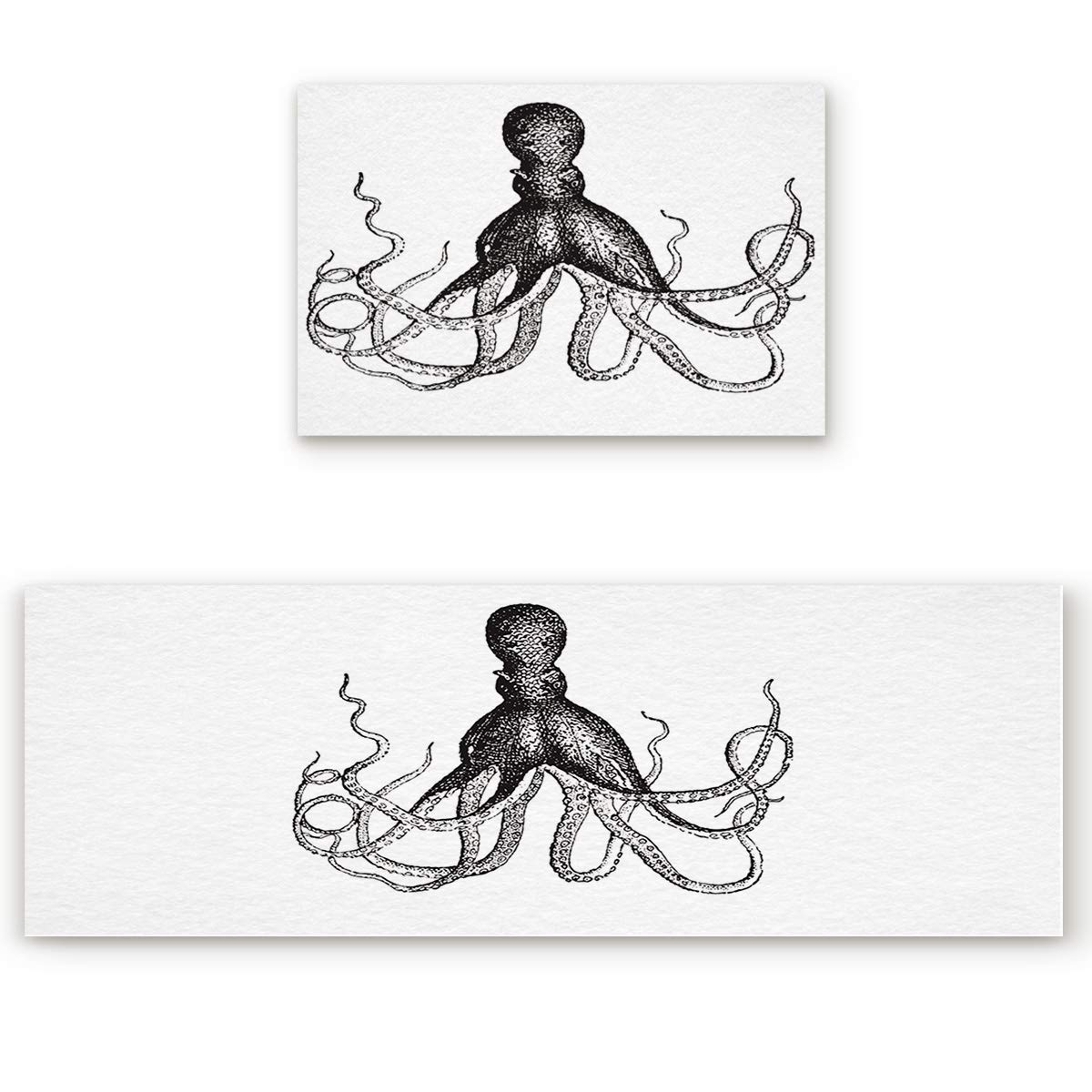 Octopus1san9027 19.7 x31.5 +19.7 x63  Savannan 2 Piece Non-Slip Kitchen Bathroom Entrance Mat Absorbent Durable Floor Doormat Runner Rug Set - Cherry Blossoms