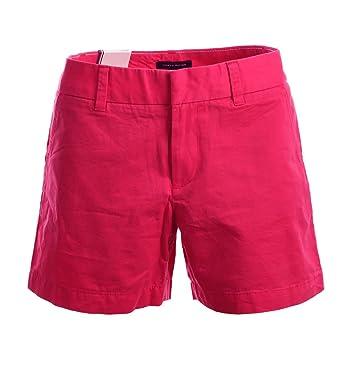 auf Füßen Bilder von neue Version Details für Tommy Hilfiger Damen Chino Shorts Hot Pants Kurze Hose Pink ...