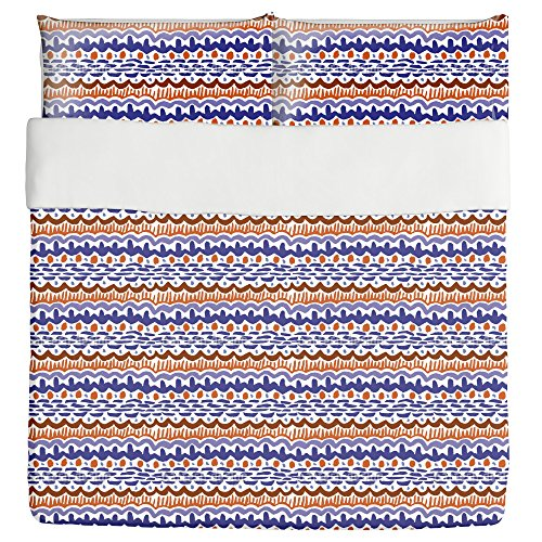 African Inspiration Duvet Bed Set 3 Piece Set Duvet Cover - 2 Pillow Shams - Luxury Microfiber, Soft, Breathable by uneekee