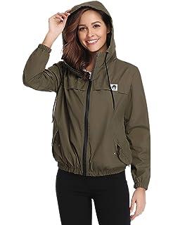 2c3849491cf Abollria Raincoats Women Waterproof with Hood Lightweight Active Outdoor  Windbreaker Rain Jacket