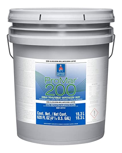Sherwin Williams ProMar 200 Semi-Gloss Silvery Gray 5-Gallons