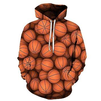 WEIYIDQ Sudaderas con Capucha Suéter De Baloncesto con Capucha De Par Impresa Digital De La Comodidad Ocasional 3D: Amazon.es: Deportes y aire libre