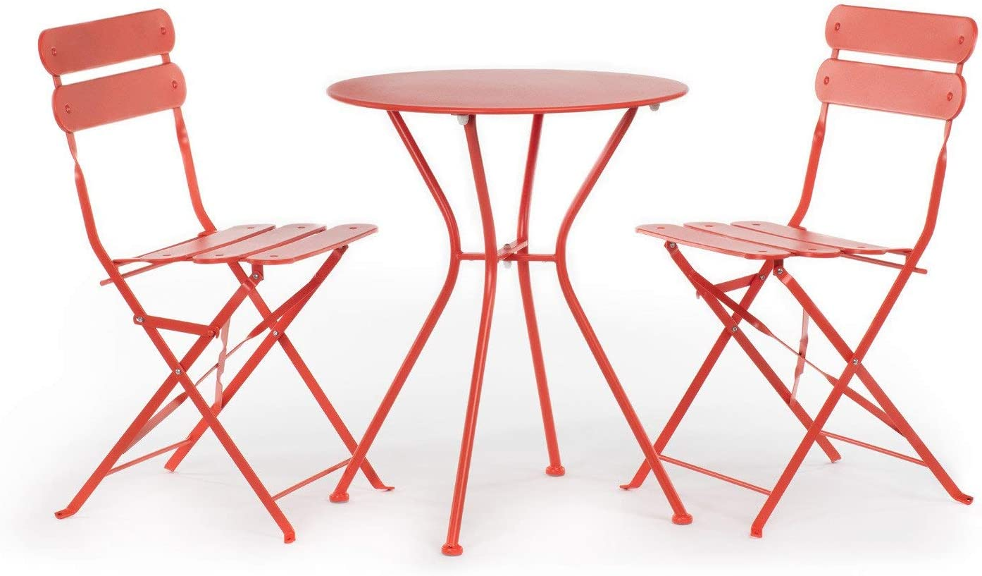 SKLUM Pack Mesa Rohd & 2 Sillas Rohd Acero Tomate - (Elige Color): Amazon.es: Hogar