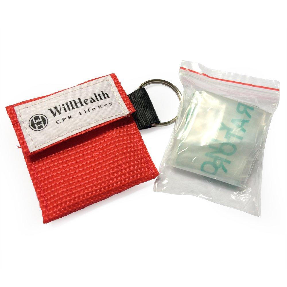 WillHealth Mascarilla RCP con bolsa llavero para botiquín ...