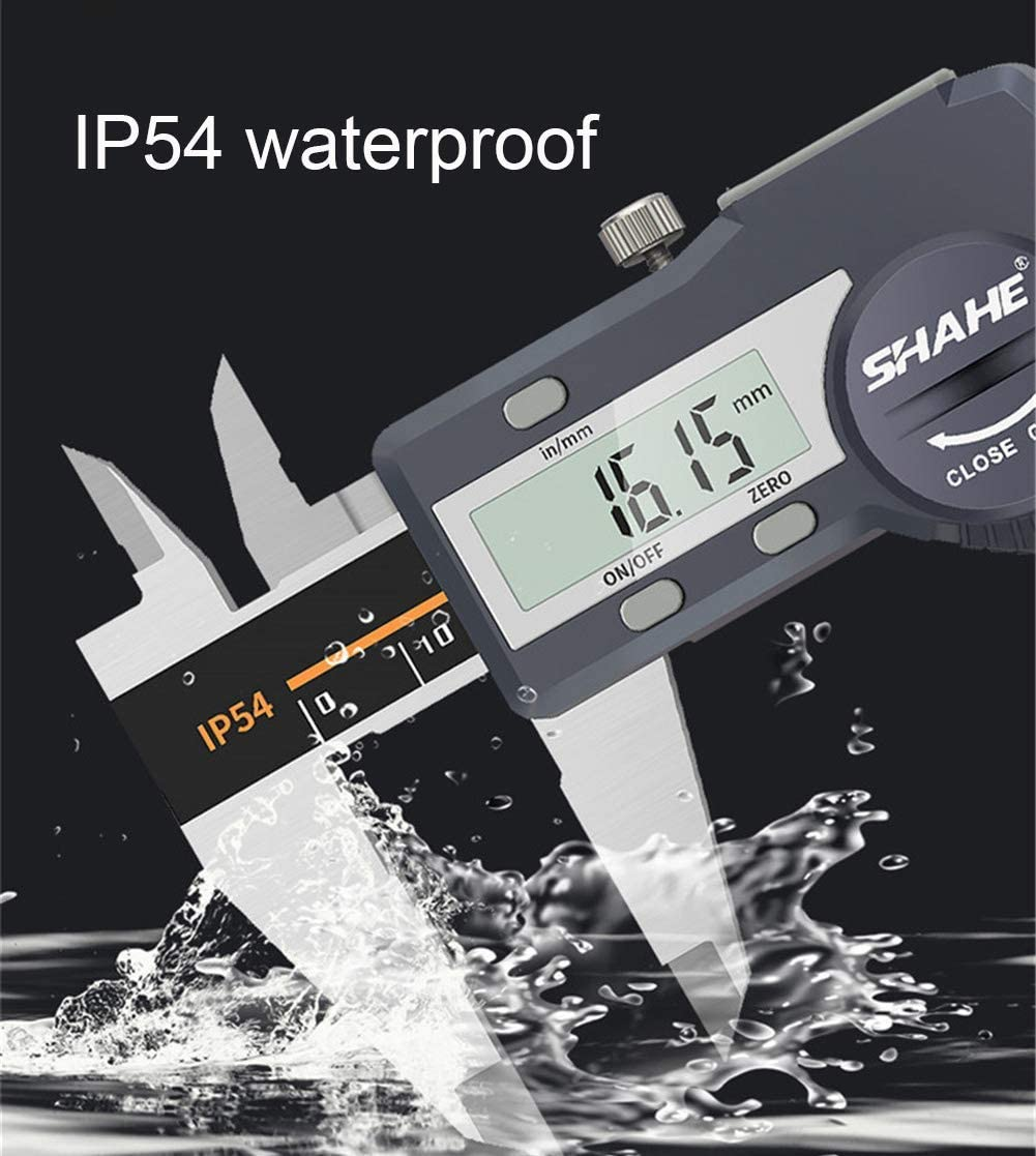 CLQya Digital Vernier Calipers Micrometer Electronic High Precision Measuring Tool Stainless Steel Instrument with Extra-Large LCD Screen,0-150mm 0-200mm