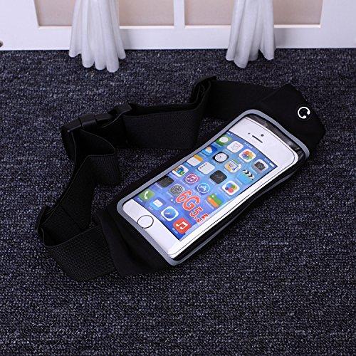 iPhone Case Cover Ceinture ceinture ceinture, ceinture ceinture réfléchissante sac pour iPhone 6S / 6 PLUS transparent écran tactile, ceinture de sport universelle ceinture avec prolongateur supplémen