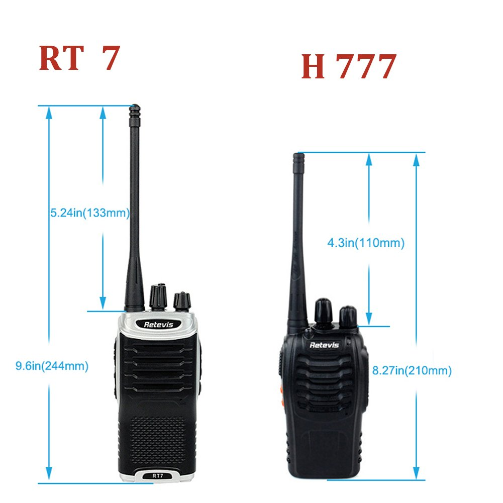 Retevis RT7 Walkie Talkies UHF 400-470MHz 3W 16CH Two Way Radio with Earpiece(20 Pack) and Programming Cable by Retevis (Image #2)