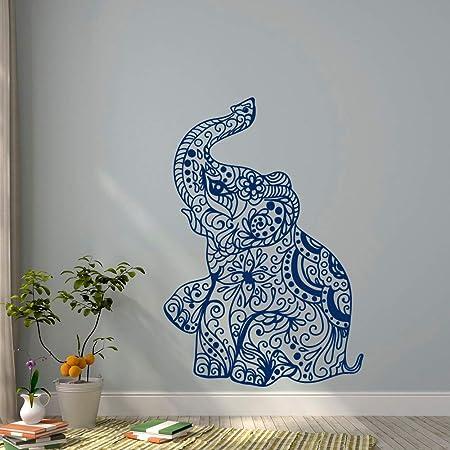 ONETOTOP Elefante Yoga Tatuajes de Pared Indie Arte de la Pared ...
