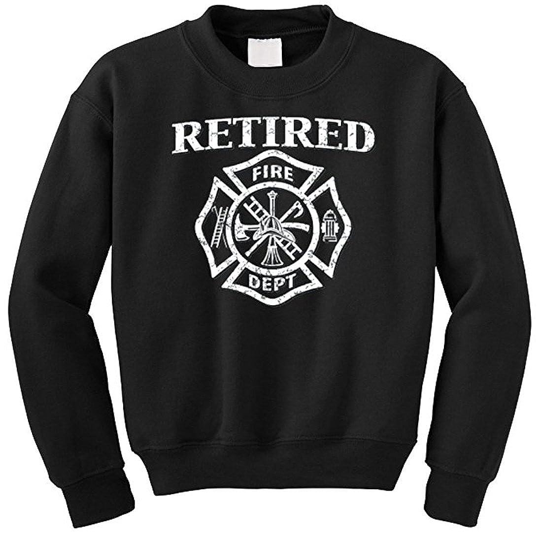 Amazon Retired Fire Dept Firefighter Mens Sweatshirt Black Xs