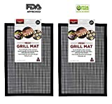 Grill Mesh, Zinnor BBQ Grill Mesh Mat Set of 2,FDA-Approved Non Stick BBQ