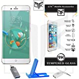 Nubia Z17 Mini Tempered Glass + OTG Adapter + Mobile Stand + Audio Splitter - TheGiftKart Super Value Combo