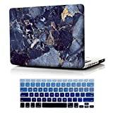 Macbook Pro 13 inch Case Model A1278 ,iCasso Rubber Coated Hard Shell Plastic Protective Case Cover For Macbook Pro 13 Inch with CD-ROM Drive Model A1278 With Keyboard Cover (Blue Marble)