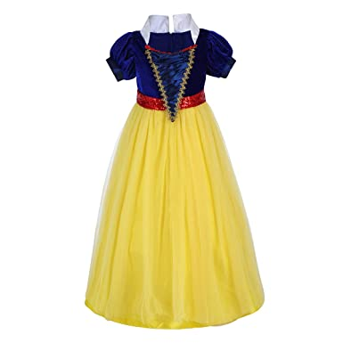 4dfc56cc5079a OBEEII Girls Party Outfit Fancy Dress Fairytale Snow Princess Cosplay  Costume for Festival Performance Birthday Pageant Carnival Halloween Photo  Shoot for ...