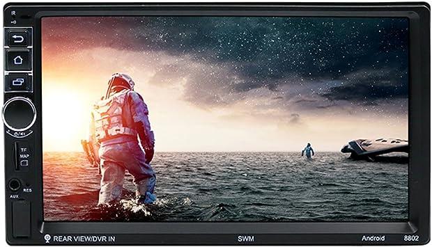 NELNISSA SWM8802 1080P coche navegador GPS con 1024x600 de alta resolución de pantalla táctil TFT de 7 & 2 DIN Quad-Core & Built-in Wifi/Bluetooth Compatible inalámbrico mando a distancia: Amazon.es: Electrónica