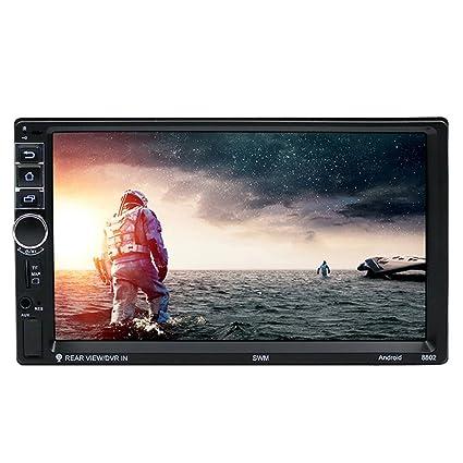 NELNISSA SWM8802 1080P coche navegador GPS con 1024x600 de alta resolución de pantalla táctil TFT de 7 & 2 DIN Quad-Core & Built-in Wifi/Bluetooth ...