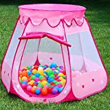 other persons wish list - ELEOPTION Indoor Outdoor Portable Folding Pink Princess Play Tent Baby Kid Toddle Castle Cubby Play House for Boys Girls Children to play (Stars Hearts Pink)