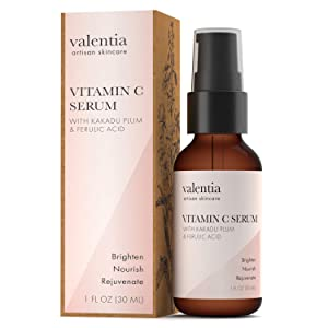 Valentia Vitamin C Serum 1 OuncePlant-Based