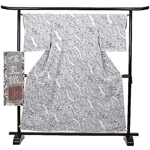 反逆デザイナーカメ小紋 正絹 着物 きもの 染 織 輝宝織 落款 和装 リサイクル【中古】 90012844