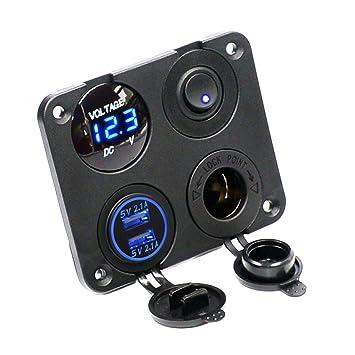 BALUUE - Vehículo de 4 Agujeros, USA Doble Cargador USB 3.1A ...