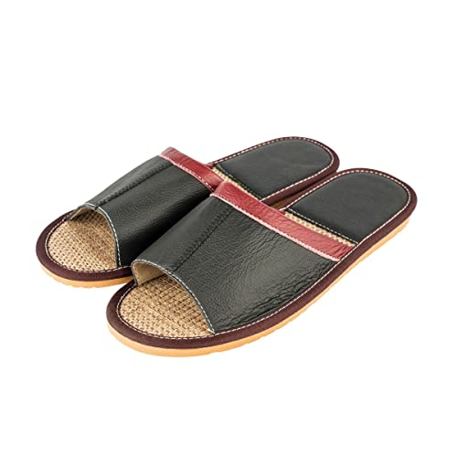 2628e220adbde Amazon.com | Haisum Men's Summer Linen Sandals PU Leather Absorb ...