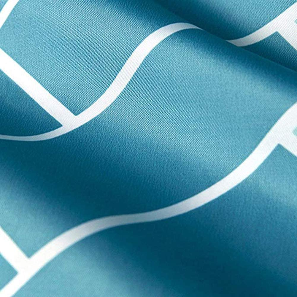 GreeSuit Tejido Cortina de Ducha Liner Ba/ño Decorativo Poli/éster Impermeable con 12 Ganchos Resistente al Moho M/áquina Lavable 180cm x 180cm Ondas Azules