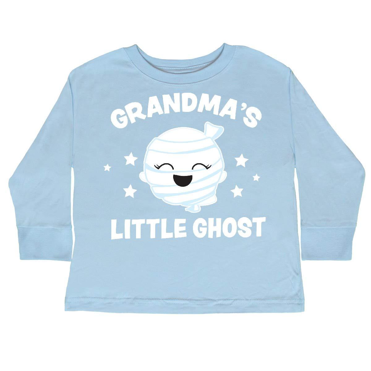 inktastic Cute Grandmas Little Ghost with Stars Toddler Long Sleeve T-Shirt