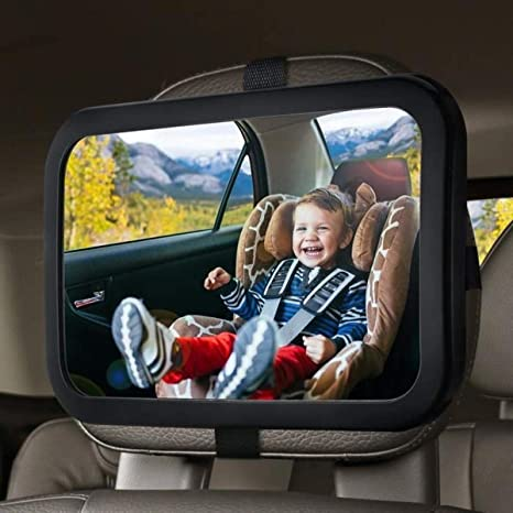 Baby Car Mirror Safety Car Seat Mirror  Rear Facing Infant Crystal Clear View