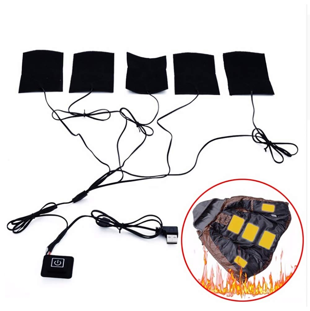 Wingbind Coussin Chauffant /électrique Portable 5V 8W USB Chauffage Gilet Maison ext/érieure Hiver Camping Nuit Basse temp/érature v/êtements Thermiques l/égers