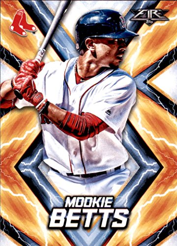 2017 Topps Fire #61 Mookie Betts Card by Topps Fire