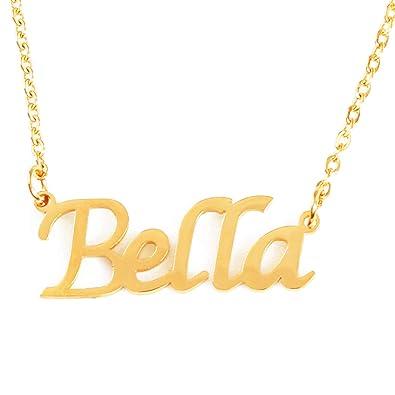 b94029c20046d Amazon.com: Zacria Bella Custom Name Necklace Personalized - 18ct ...